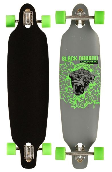 Black Dragon Jungle Fever longboard, szürke