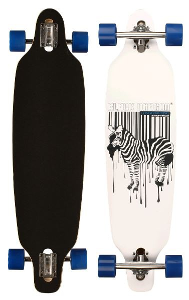Black Dragon Jungle Fever longboard, fehér